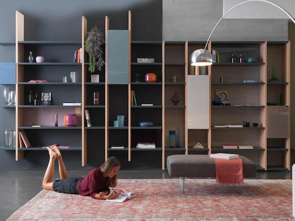 Libreria da salotto 30 mm by Lago