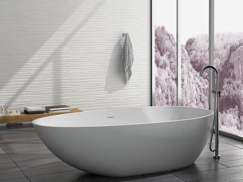 Vasca da bagno freestanding Oval Solid Surface by Iperceramica