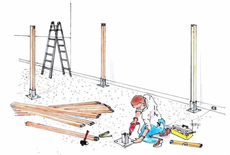Costruire un pergolato in legno