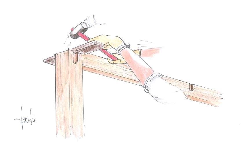 Pergolato in legno a incastro