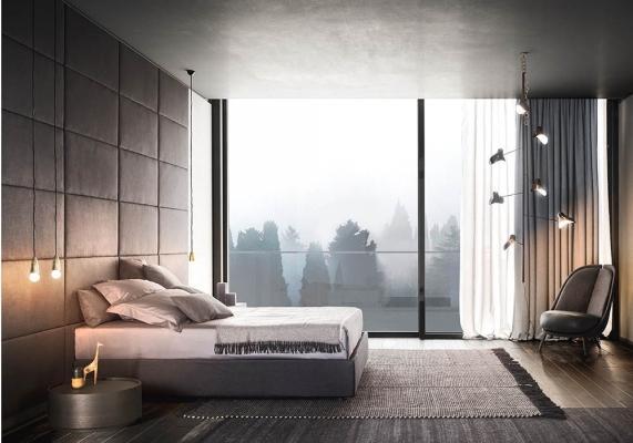 Stanza da letto con pannelli modulari - Pianca