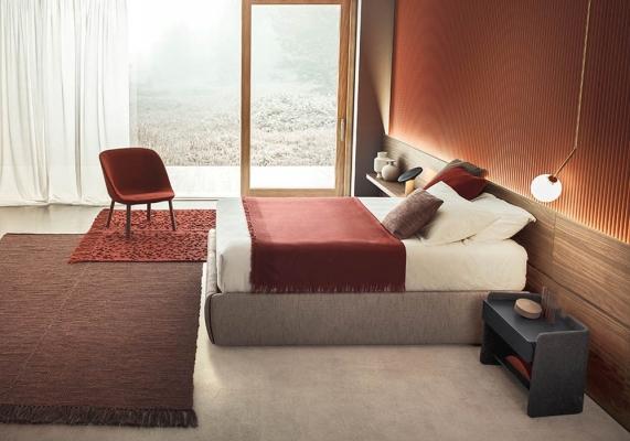 Camera da letto con boiserie standard - Pianca