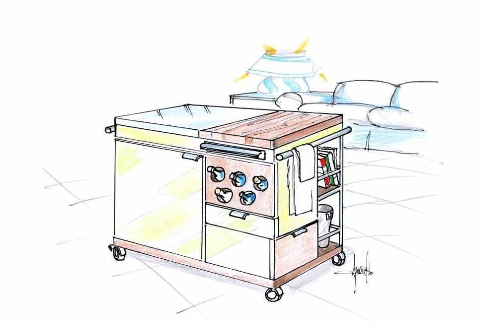 Mobiletto salvaspazio cucina soggiorno