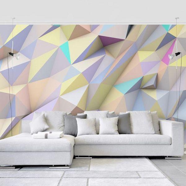 Carta da parati tridimensionale geometrica - Bilder Welten