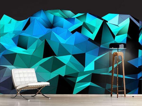Carta da parati tridimensionale Belcasi - Diamanti 3d