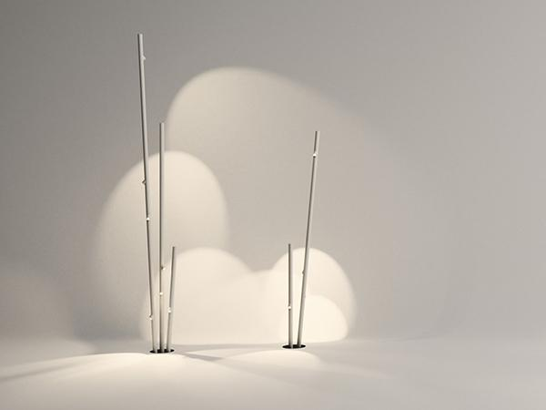Luci da giardino Bamboo Floor Vibia