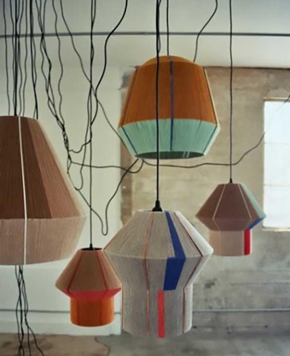 Lampadari moderni a sospensione per soggiorno vimini