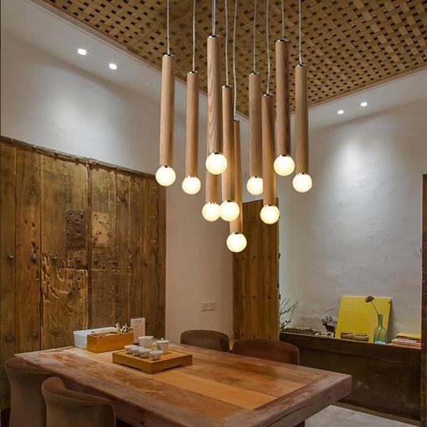 Lampadario in legno moderno Aliexpress