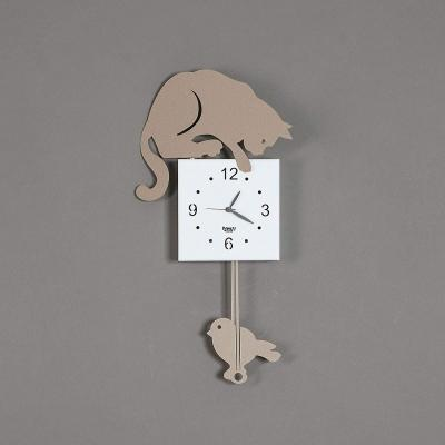 Orologio gatto pendolo metallo su Amazon