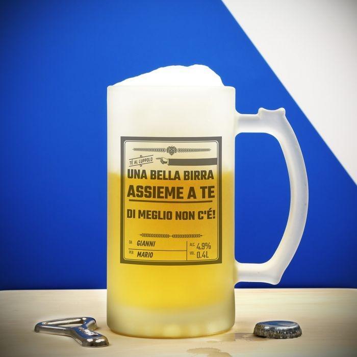 Boccale birra personalizzato per la festa del papà Troppotogo.it