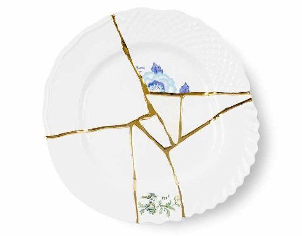 Restauro ceramica con tecnica Kintsugi Seletti