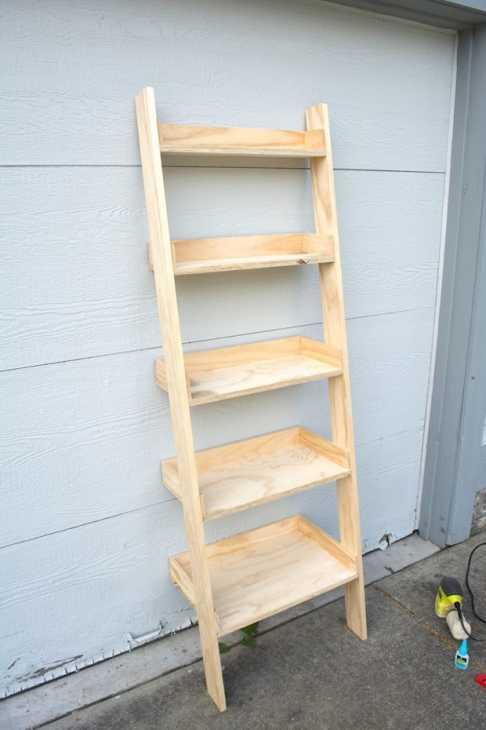 Riciclo creativo scala in legno: scaffale per il bagno, parte 2, da brepurposed.porch.com