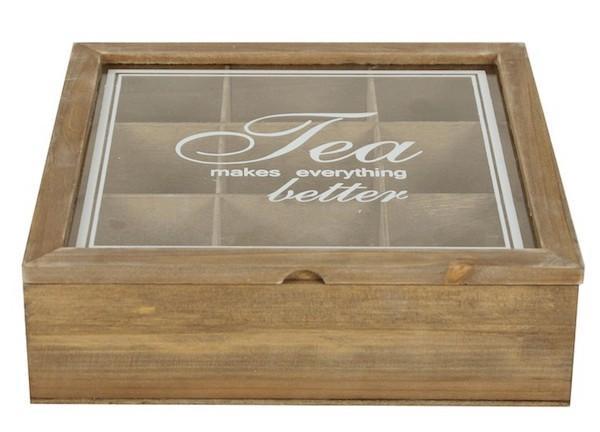 Accessori cucina in mdf: scatola da tè Weswting