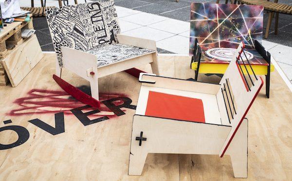 Sedia in compensato designed by Issa Diabaté - nuova collezione IKEA ÖVERALLT