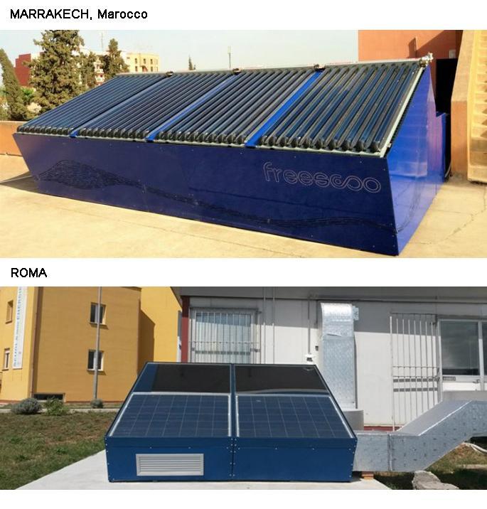 Esempi di installazione di condizionatori solari FREESCOO di SolarInvent
