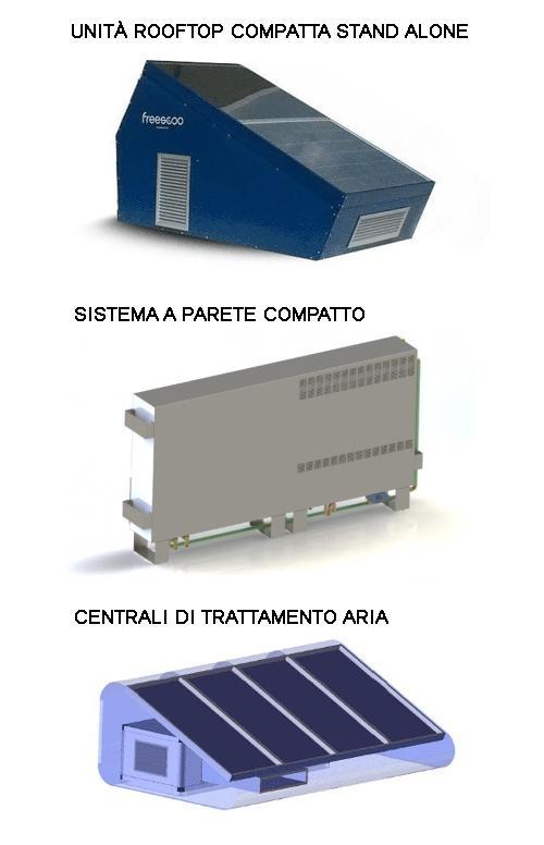 Prototipi di condizionatori solari FREESCOO di SolarInvent