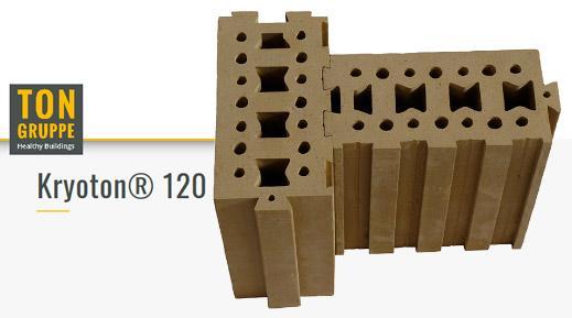 Blocchi in terra cruda Kryoton® 120 di Ton Gruppe per case in bioedilizia