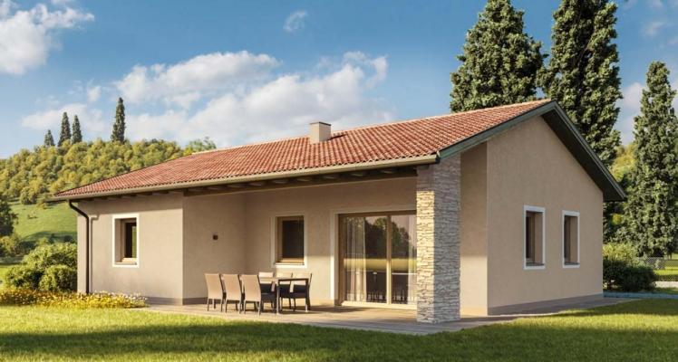 Casa ecologica in legno in stile classico by Wolf Haus
