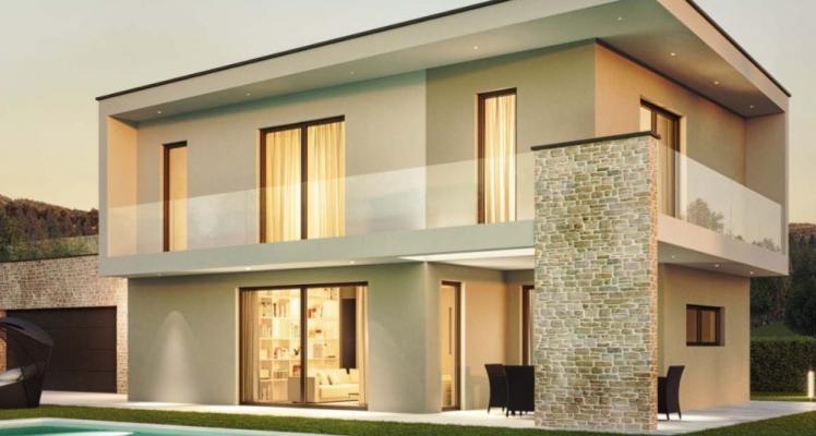 Casa ecologica in legno in stile contemporaneo by Wolf Haus