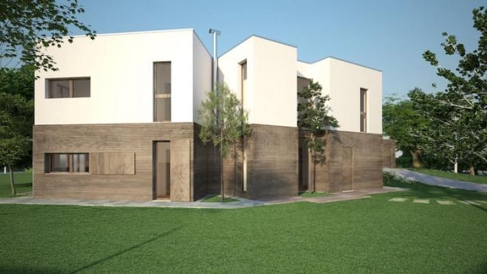 Casa ecologica in paglia di riso by Novellocase