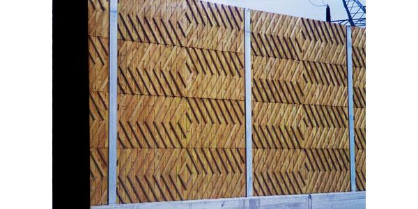Barriera antirumore in legno di Alfakel