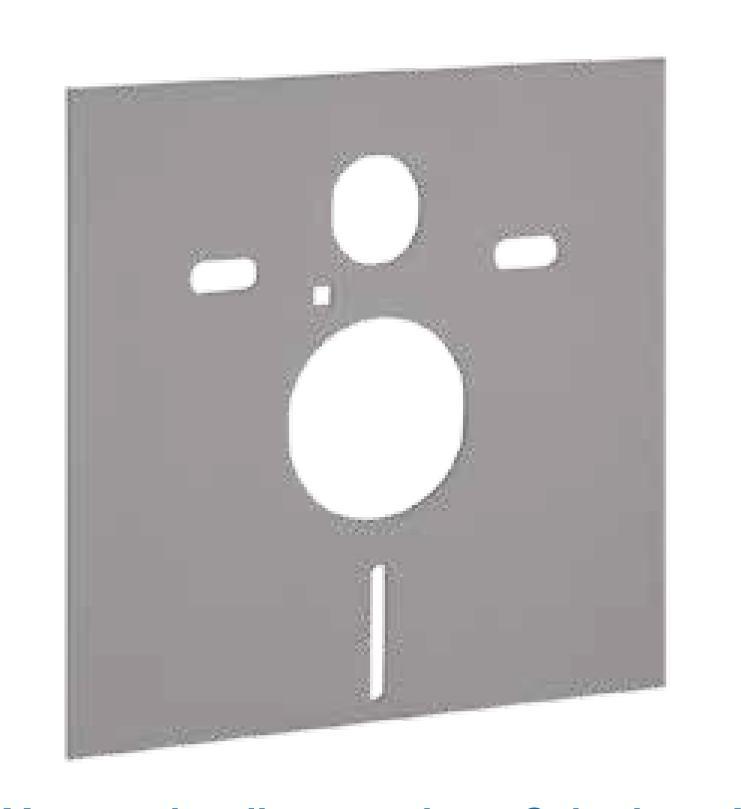 Materassino fonoassorbente disaccompiante per wc di Geberit