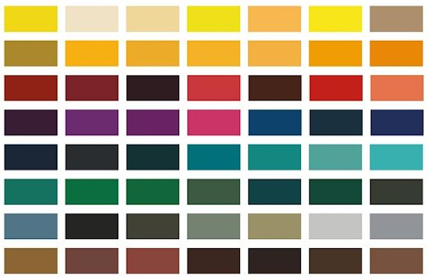 Parquet colorato: palette colori, da Berni store