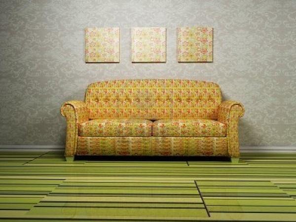 Parquet colorato verde chiaro per il soggiorno, da Berni store
