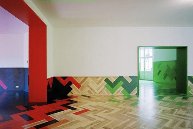 Parquet colorato multicolor, da Berni store