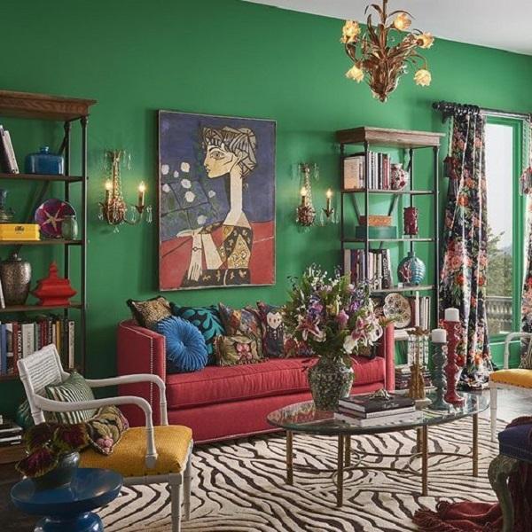 Arreda la tua casa massimalista con i colori, da brit.co