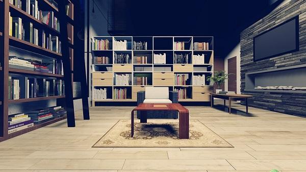 Arredare con stile rustrial, spazio alle librerie