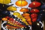 Ombrelli rotti diventano lampadari