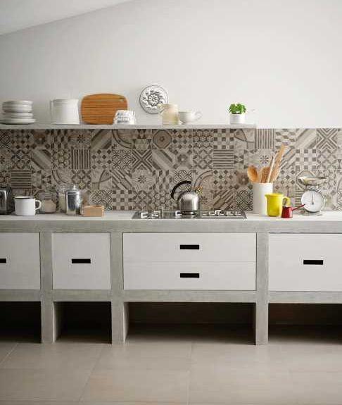 Piastrelle per cucina in muratura