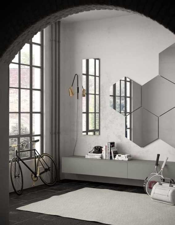 Specchio da parete moderno e componibile di Pianca Spa