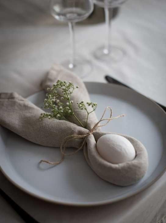 Decorazioni pasquali per la tavola Seshell