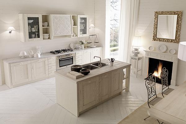 Cucina IRIS bianca stile Country Chic - AURORA CUCINE