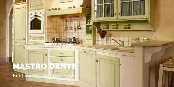 Stile provenzale per la cucina in muratura di Le Cucine dei Mastri