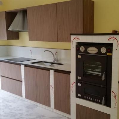 Loft, la cucina in muratura moderna di CU.CE.MUR.