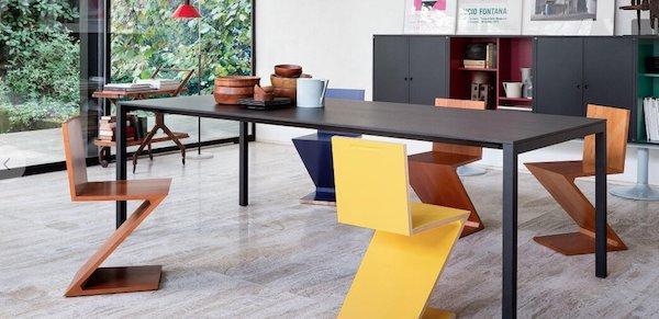 Sedie design: Zig Zag Chair by Gerrit Thomas Rietveld