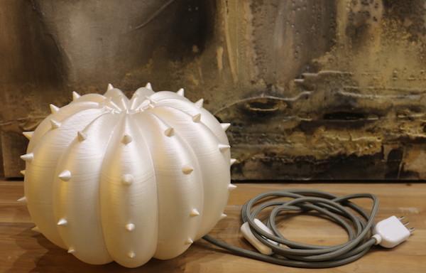 Lampada Echinocactus, collezione Desert Light - realizzata con stampa 3d da SeFa Design by Nature
