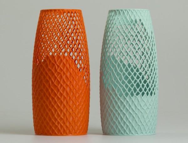 Vasi realizzati impiegando la stampa 3d - linea Bossolo by LuccaPortal