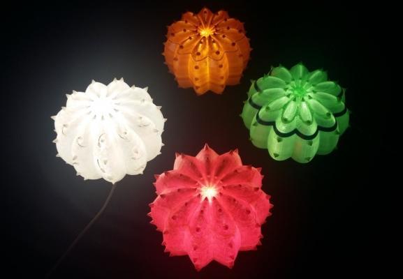 Echinocactus, lampada da appoggio con la stampa 3d - SeFa Design by Nature