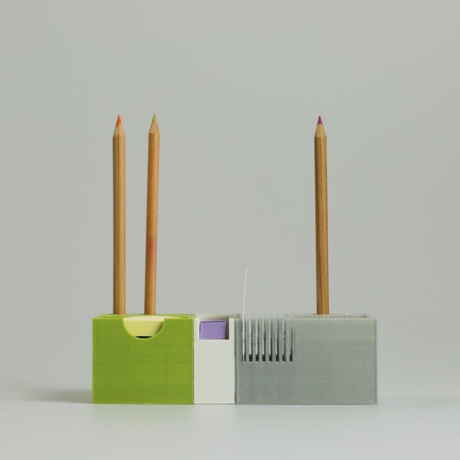 Linea ufficio minimal Ponte, con stampa 3d - Design by LuccaPortal