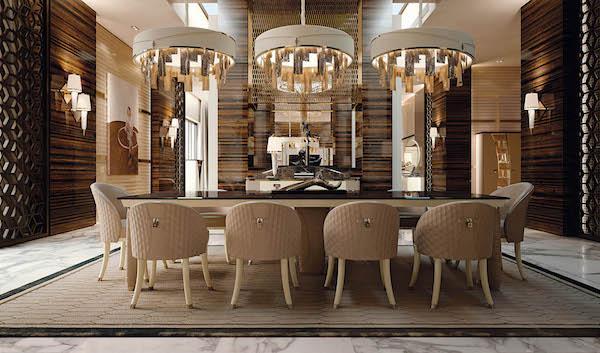 Arredamento luxury per la zona dining: Vogue by Turri