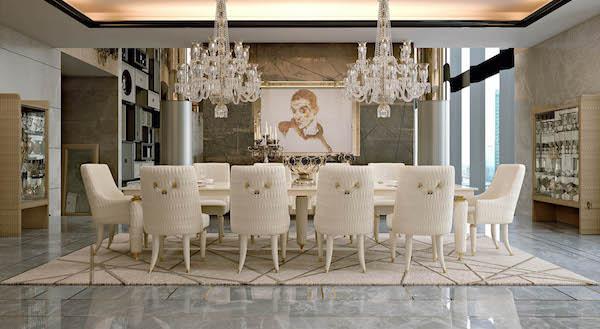 Collezione Numero Tre by Turri - Arredamento luxury sala da pranzo
