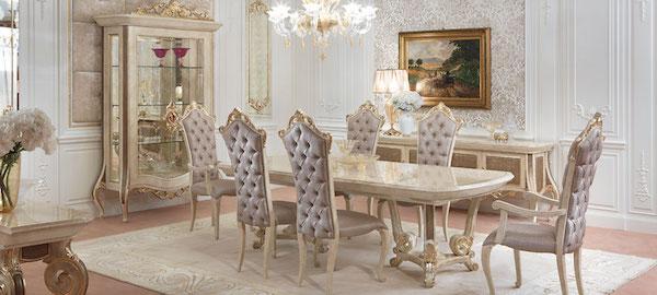 Collezione Baroque by Turri - Arredamento luxury in stile classico per la zona dining