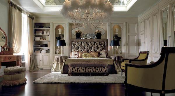 Arredamento luxury zona notte: collezione Sunday Morning by Martini Mobili