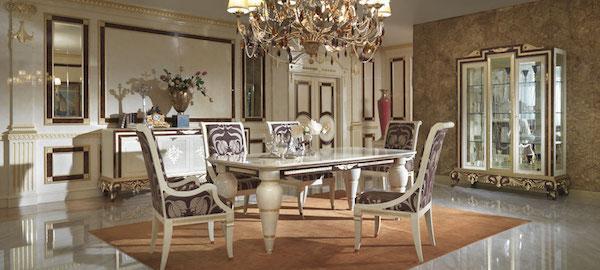 Collezione Hermitage by Turri - Arredamento luxury sala da pranzo in stile classico