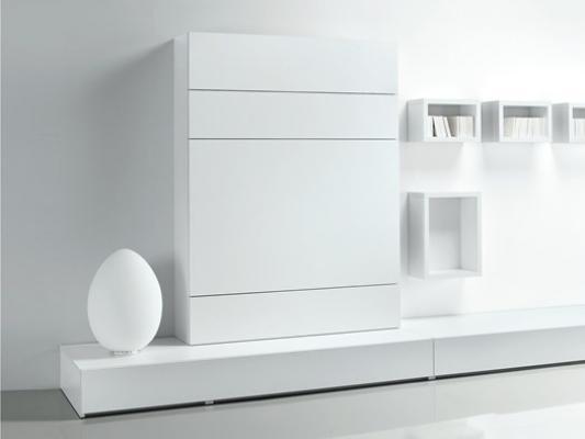 Parete attrezzata mini appartamento: sistema IQ Erba Mobili