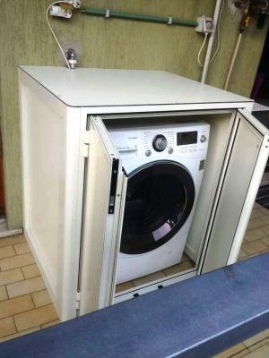 Mobiletto alluminio copri lavatrice - S.G. Infissi